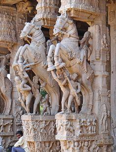 Le temple de Srirangam (Tiruchirapalli, Inde) #India #Srirangam #temple
