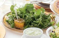 Kijk wat een lekker recept ik heb gevonden op Allerhande! Groene kruidensalade Food Inspiration, Cantaloupe, Spinach, Fruit, Vegetables, Dinner Parties, Salads, Seeds, Veggies