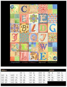 Gruppenprojekt Kalender 2016 - Monat März
