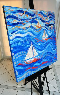 sailboats painting for sale in florida at laelanie art gallery