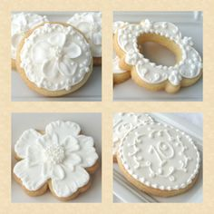 Montreal Confections - white on white cookies - these are gorgeous, and Marlyn shows us how to make them!