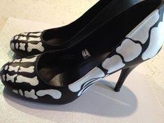 DIY Skeleton foot high heels