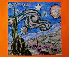 Introducing fine art to kids through stories and crafts! Check out this fun and easy The Starry Night craft via Library as Incubator Project!