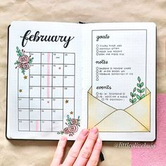 Monthly bullet journal spreads that you will love! A list of bullet journal monthly spread ideas for inspiration is exactly what I needed. I'm so excited to try these bullet journal layouts next month. Bullet Journal School, Bullet Journal Inspo, Bullet Journal Simple, Bullet Journal Doodles, Journal D'inspiration, February Bullet Journal, Bullet Journal Monthly Spread, Bullet Journal Cover Page, Bullet Journal Lettering Ideas
