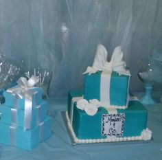 Tiffany Blue Party Tiffany Blue Party, Sweet 16, Shower Ideas, Bridal Shower, Deco, Cake, Shower Party, Sweet Sixteen, Kuchen