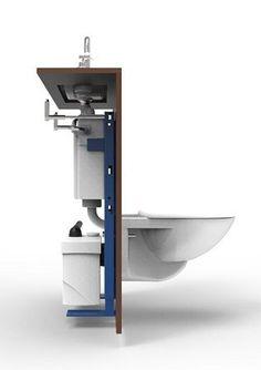 Renovation before and after : WiCi Concept : Actualités des WC lave-mains WiCi Concept Bathroom Trends, Bathroom Spa, Bathroom Renovations, Modern Bathroom, Bathroom Ideas, Bathroom Design Small, Bathroom Layout, Small Toilet Room, Bathroom Flooring