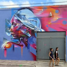 New wall by Mr Cenz in Wynwood, Miami with UP Art Studio and Molotow Headquarters