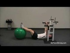 Back Exercises: The Horizontal Row On The Exercise Ball