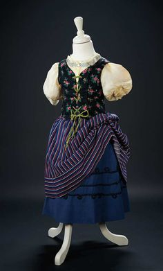 """Country Costume Worn by Shirley Temple in the Opening Scenes of the 1937 Film """"Heidi"""" $5000+"""