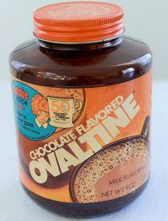 80's Vintage Ovaltine Jar