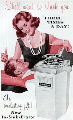 In-Sink-Erator garbage disposer ad c. 1960s