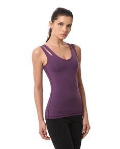 AUMNIE :: DIVISION TANK ORCHID  #yoga #pilates #yogatank #yogatop #yogawear #fittnesswear #sportswear