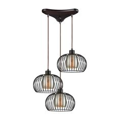 Yardley 3 Light Triangle Pan Fixture In Oil Rubbed Bronze With Mercury Glass by Elk Lighting Group Entryway Light Fixtures, Entryway Lighting, Elk Lighting, Pendant Light Fixtures, Pendant Lighting, Bedroom Lighting, Hanging Pendants, Glass Pendants, Dublin