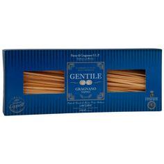 Linguine Gentile. Pasta alargada y de forma aplanada parecida al Spaghetti. Está elaborada artesanalmente cuidando todos los detalles consiguiendo una textura firme y elástica. Ideales con salsas de queso, trufa y tomate.