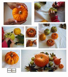 potiron deco automne loisirs avec les enfants http://www.nastiyaaucarre.com/2014/10/nouvelle-mode-halloween-potirons.html