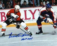 "Mark Howe Signed 8x10 Photo with ""HOF 2011"" Inscription #SportsMemorabilia #PhiladelphiaFlyers #HallOfFame"