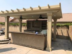 custom patio covers, pergolas, barbecue islands, concrete & masonry, and sunrooms Central Valley, Sunrooms, Craftsman, Construction, Outdoor Structures, Courtyards, Artisan, Building, Winter Garden