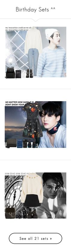 """""""Birthday Sets ^^"""" by theycallmebeatriz ❤ liked on Polyvore featuring Topshop, UNIF, Sloane Stationery, Valentino, Jil Sander, Givenchy, Underground, Chloé, Eos and Casetify"""