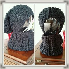 Just off the Hook - Crochet slouchy hat with matching neck warmer