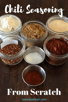 This easy to make chili seasoning is a great replacement for the pre-packaged mix you can buy at the store. You know every ingredient and you can pronounce all of them. As an added bonus, there are no preservatives. Homemade Chili Seasoning, Chili Seasoning Mix, Homemade Spices, Homemade Seasonings, Chili Seasoning Recipe Gluten Free, Chili Spice Mix Recipe, Sauce Recipes, Cooking Recipes, Easy Recipes