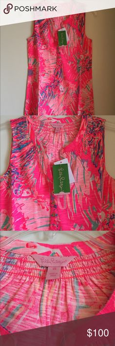 NWT Lilly Pulitzer Essie Dress XS Never Been Betta NWT Lilly Pulitzer Essie Dress in XS, Never Been Betta print. Cotton/Modal blend. Comes from smoke free/pet free home. Lilly Pulitzer Dresses