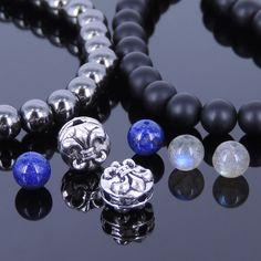 DIY Gemstone Bracelet Kit Hematite Onyx Lapis Labradorite Sterling Silver 23302 #DIYNotion