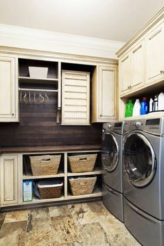 Classical Style Laundry Room...Love this!!