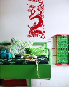 red/green kids room