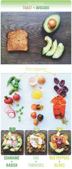 BEAUTY BITES: 3 ways to do avocado toast! We're piling on the beauty benefits!! Click the photo to see all 3 recipes.