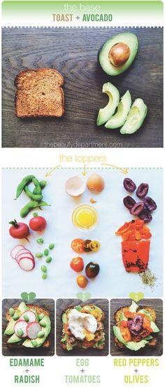 3 ways to do avocado toast