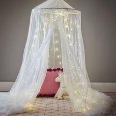 Girls Canopy, Girls Bedroom, Bedrooms, Bedroom Ideas, Bedroom Decor, Room Color Schemes, Room Colors, Bed Canopy With Lights, Fairytale Bedroom