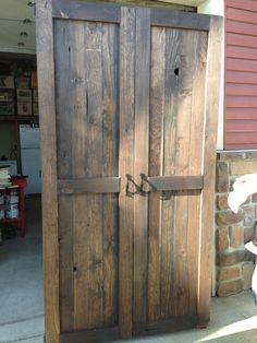 Reclaimed Wood Pantry/Armoire SweetPea Restorations Rustic Pallet wood Repurposed Harvest