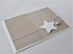 Carolas Bastelstübchen: I like that . Winter Cards, Holiday Cards, Christmas Cards, Stampin Up Christmas, Handmade Christmas, Karten Diy, Star Cards, Card Tags, Creative Cards