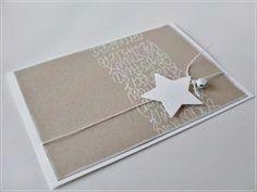 Carolas Bastelstübchen: I like that . Paper Cards, Diy Cards, Winter Cards, Holiday Cards, Handmade Christmas, Christmas Crafts, Star Cards, Card Tags, Scrapbook Cards