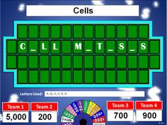 """Create your own """"Wheel of Fortune"""" style review games in PowerPoint!"""
