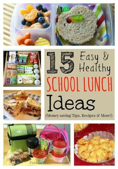 Healthy School Lunch Ideas and Money Saving Tips