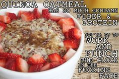 Thug Kitchen Awesome oatmeal that keeps me full for forever. SO delicious http://thugkitchen.com/post/51561424744/dont-give-me-that-i-dont-eat-breakfast