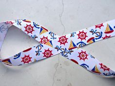 Anchors Away nautical themed 7/8 ribbon by IsamayDesigns on Etsy, $1.59