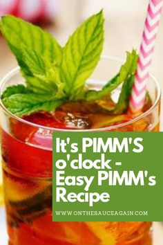 Frozen Cocktails, Fun Cocktails, Holiday Drinks, Summer Drinks, Pimms Recipe, Smoothie Recipes, Smoothies, Cocktail And Mocktail, Best Cocktail Recipes