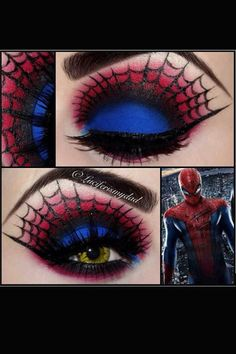 LuciferIsMyDad is one of my favourite make up artists and inspires me a lot. Her insane eye make up helps towards creating ideas for cosplay make up. Creative Eye Makeup, Eye Makeup Art, Eye Art, Makeup Geek, Beauty Makeup, Fairy Makeup, Crazy Makeup, Spiderman Makeup, Superhero Makeup