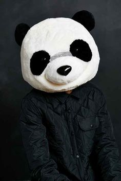 Giant Panda Head Giant Panda Head- Black & White One Size. It's a giant panda head! Just put it on and off you go - searching for bamboo to eat and YouTube videos to make. And when you get tired from all your adventures. $68.00