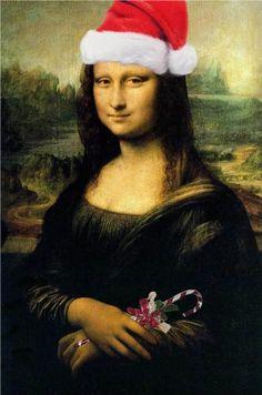 Mona Lisa Santa.-- Mona Lisa Parodies #Joconde