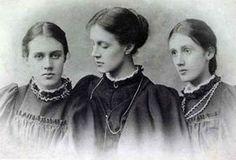 Sisters Vanessa Stephen (17), Stella Duckworth (27) & Virginia Stephen (14), ca. 1896