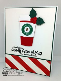 card cup coffee christmas Cupcakes, Cards and Kim: Coffee Lovers Blog Hop Winter 2016