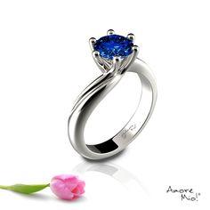 Anillo de oro Blanco 14Kt Modelo: WG1423118 Diamante Round 0.38 quilates. Color-Blue Claridad SI2 Laboratorio- GIA-DGC, SKU Diamante: 32468 Precio: $20,893.95 pesos M.N *Consulte términos y condiciones.
