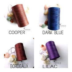 Jewelry Art, Beaded Jewelry, Macrame Thread, Macrame Supplies, Colour List, Metallic Thread, Leather Working, Crafts To Make, Color Combinations