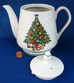 Teapot Christmas Tree Large 1970s Porcelain by AntiquesAndTeacups