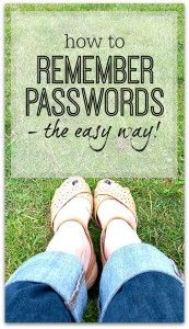 A really easy way to always remember your passwords - while having a different one for everything - quick tip that works!