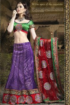 Color	:	 Purple  Color	:	 Red  Fabric	:	 Net  Fabric	:	 Brocade  Occasion	:	 Wedding  Work	:	 Aari  Work	:	 Resham