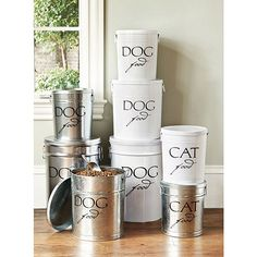 Pet Food Canisters by Ballard Designs